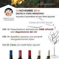 14NOV14 - Apuane ENoteca night